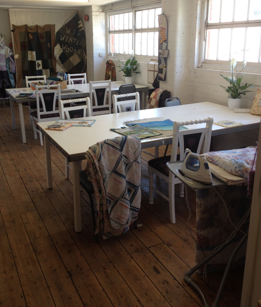 Purpose built tables & lovely light space ..