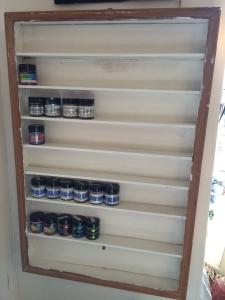 Shelf in place