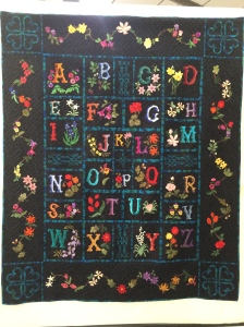 This was my favourite quilt in the exhibition. The detail was exquisite & hours of work I hate to think. Thank you Jacqueline Martin from Lancashire.
