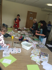 To book a class at Malvern show there is a separate room with samples & times of the workshops throughout the shows duration. I book 2 with Kate.