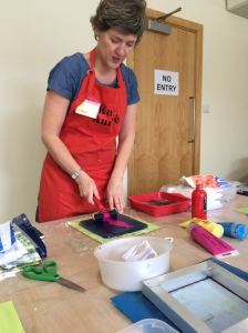 There is plenty to do. I signed up for a 'Jelly Printing' workshop with Katie Andre. This was brilliant, she was amazing fitting all her great knowledge into an hour. Great results from all in the class.